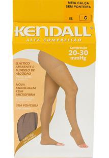 Meia Calça Kendall Feminina Alta Compressão (20-30Mmhg) Ponteira Aberta Tamanho G Cor Mel
