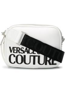 Versace Jeans Couture Bolsa Transversal Com Alça De Ombro Removível E Estampa De Logo - Branco