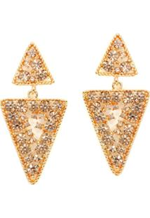 Brinco Lovelee Acessórios Triângulo Champa Champagne