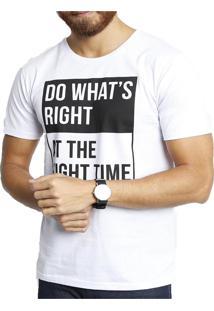 Camiseta Polo Factory Right Time Branca