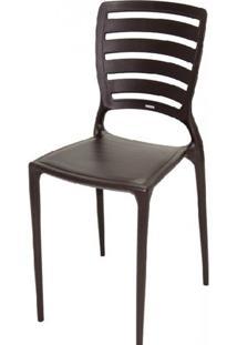 Cadeira Sofia Vazado Horizontal Polipropileno Marrom - 17425 Sun House