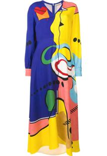 Mary Katrantzou Street Spirit Dress - Azul