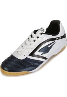 Tênis Futsal Dray Dr18- 363Co Branco-Marinho