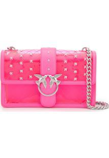 f617b4efa Pinko Bolsa Transversal 'Love' Transparente - Rosa