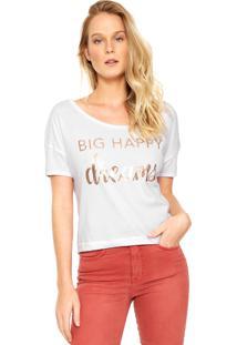 Camiseta Dzarm Happy Branca