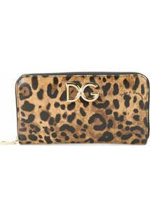 Dolce & Gabbana Carteira Continental De Couro - Marrom