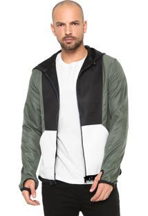 Jaqueta Calvin Klein Jeans Recortes Verde/Preta