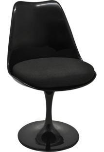 Cadeira De Jantar Saarinen Preta Com Preto