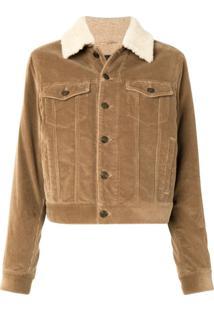 Saint Laurent Classic Collar Jacket - Marrom