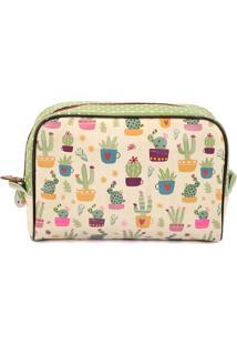 Necessaire De Viagem Grande - Coleção Cactus - Mood