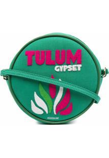 Olympia Le-Tan Bolsa Tiracolo Redonda Tulum - Verde