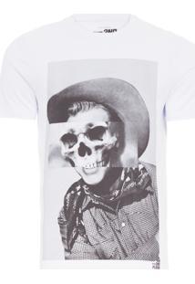Camiseta Masculina Basic Skull Cowboy - Branco