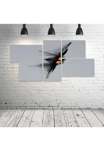 Quadro Decorativo - Military-Raptor - Composto De 5 Quadros - Multicolorido - Dafiti