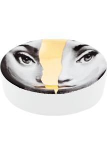 Fornasetti Bandeja Branca Em Porcelana. - Cinza