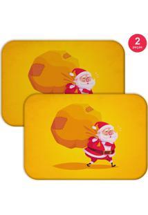 Jogo Americano Love Decor Wevans Cute Noel Yellow 2 Peças
