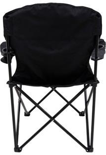 Cadeira Dobrável Pandera Com 2 Porta Copos - Nautika-Preto