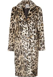 Apparis Jaqueta Longa Com Animal Print - Neutro