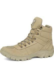 Bota Coturno Militar Fran Boots Lançamento Areia