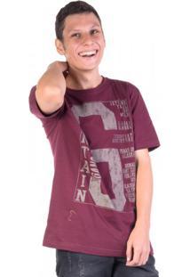 Camiseta Mountain Vinho