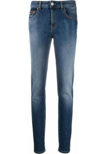Just Cavalli Calça Jeans Skinny Com Lavagem Estonada - Azul