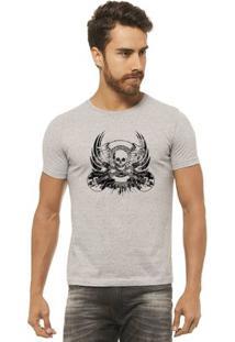 Camiseta Joss - Caveira Rock - Masculina - Masculino-Mescla