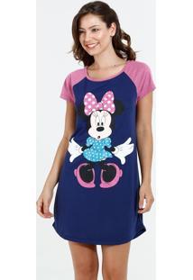 Camisola Feminina Manga Curta Minnie Disney