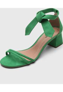 Sandália Dafiti Shoes Amarração Verde