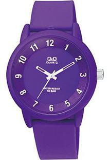 Relógio Qq Analógico Vr52J005Y Feminino - Feminino-Roxo