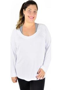 Camiseta Manga Longa Best Fit Plus Size C/ Capuz Feminina - Feminino