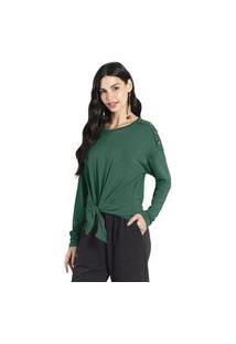 Blusa Feminina Com Amarração Formitz Verde