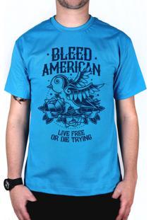 Camiseta Bleed American Swallow Turquesa