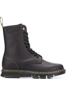Dr. Martens Ankle Boot De Couro - Preto