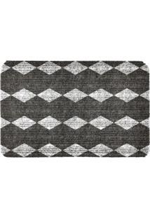 Capacho Carpet Triangulos Cinza Único Love Decor