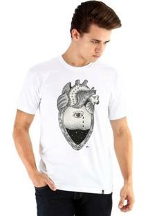 Camiseta Ouroboros Manga Curta Coração - Masculino