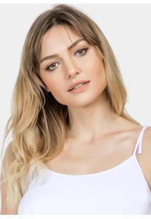 Blusa Com Alças Amarração Tecido Branco - Lez A Lez
