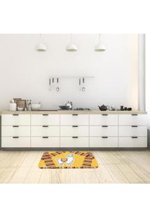 Tapete De Cozinha Mdecore Lhama Laranja 40X60Cm
