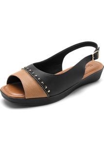 f29adbe3c Sandália Recorte Usaflex feminina | Gostei e agora?