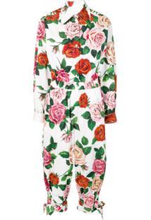 Dolce & Gabbana Macacão Floral - Branco
