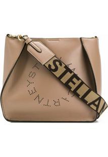 Stella Mccartney Bolsa Tiracolo Com Logo Perfurado - Neutro
