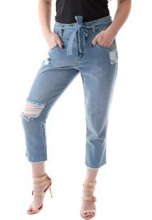 Calça 4012 Jeans Mom Traymon Azul Indigo - Kanui