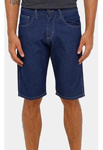 Bermuda Jeans Rockblue Escura Tradicional Reta Masculina - Masculino