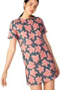 Vestido T-Shirt Crepe Estampado