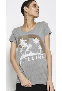 "Camiseta ""Pipeline""- Cinza & Brancalez A Lez"