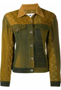 Marine Serre Jaqueta Jeans Com Patchwork - Amarelo