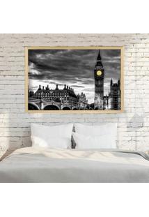 Quadro Love Decor Com Moldura London Madeira Clara Mã©Dio - Multicolorido - Dafiti