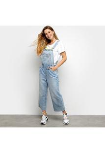 Macacão Jeans Calvin Klein Longo Feminino - Feminino-Azul Claro