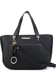 Bolsa Loucos&Santos Floter Soft Charm Bag Feminina - Feminino-Preto