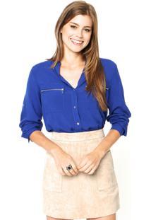 Camisa Facinelli Zíper Azul