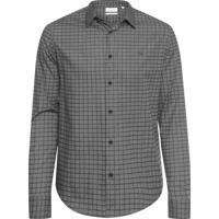 f1bcda70144cd Camisa Masculina Slim Geneva Xadrez Maquinetado - Preto