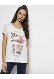 Camiseta Listrada- Off White & Cinzaangel